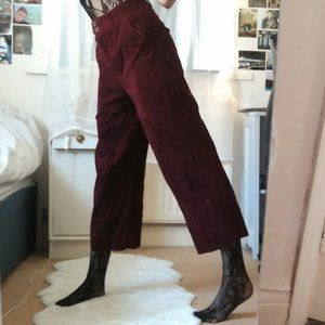 A New Day Plus Size Burgundy Wide Leg Stretch Pant